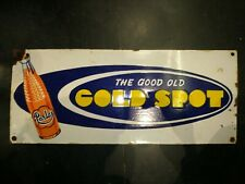 1950 DRINK GOLD SPOT ORIGINAL VINTAGE PORCELAIN ENAMEL SIGN RARE