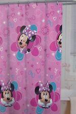 """Disney Minnie Fabric Shower Curtain 72"""" x 72"""" NIP"""