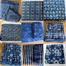 Indian Indigo Blue Cotton Hand Block Printed Crafts Sewing Fabric Bagru prints