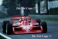 Bruno Giacomelli Autodelta Alfa Romeo 177 Belgian Grand Prix 1979 Photograph 1