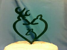 Deer, Buck, Doe, and little Buck Family Hunting Wedding Cake Topper MADE In USA…