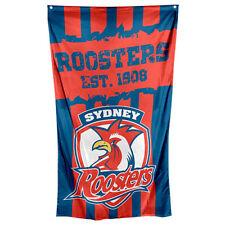 99630 SYDNEY ROOSTERS NRL TEAM LOGO 90cm x 150cm CAPE / WALL FLAG