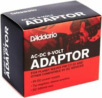 New D'Addario Accessories PW-CT-9V DC Guitar Pedal Power Supply Adapter