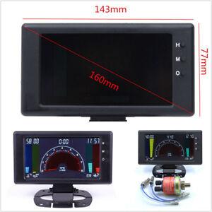 "8-18V 5"" LCD 6-In-1 Car Vehicle Tachometer RPM Volt Clock Water Temp Guage Meter"