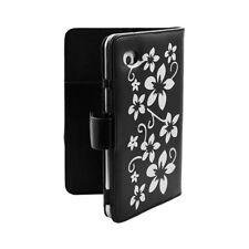 Housse coque étui pour Samsung Galaxy Tab 7 Plus P6200 motif Fleur couleur Noir
