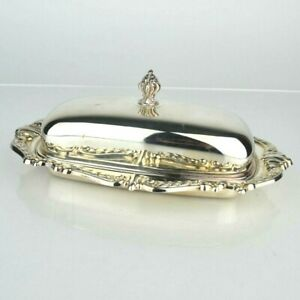 Vintage Meridan B Company Silverplate Covered Butter Server With Lid