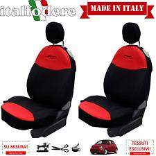 COPPIA COPRISEDILI Fiat 500 SU MISURA! Fodere Foderine Solo Anteriori Rosso Nero