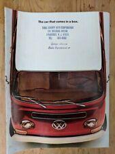 1970 VW Bus Station Wagon Kombi Campmobile Westfalia Sales Brochure Volkswagen
