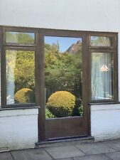Solid Hardwood Patio Door And Frame With Side Panels