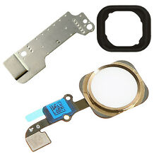 4 parte Oro Blanco Boton Home Flex Cable Asamblea parte Para Iphone 6 Plus
