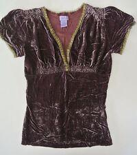 Purple OPALINA Rayon/Silk Top, Irregular Size XS