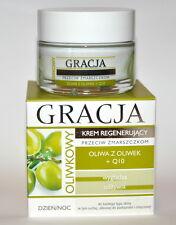MIRACULUM GRACJA FACE CREAM REGENERATING ANTI WRINKLE OLIVE OIL Q10 DAY NIGHT