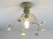 plafoniera soffitto classica rustica in ceramica e metallo avorio cucina 395/P1