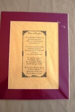 A Special Daughter Poem Matted Print, Gift Thank You