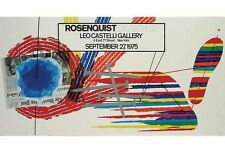 James Rosenquist Original Exhibition Poster Drawings Castelli Gallery 1975