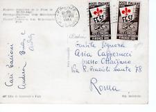 1951 REPUBBLICA  2 FRANCOBOLLI DA 5 lire GIOCHI GINNICI SU CARTOLINA ILLUSTRATA