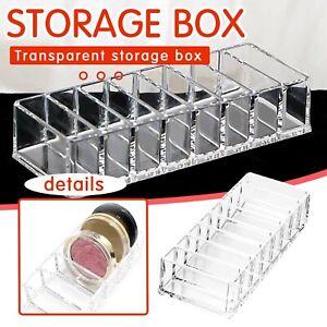 Transparent Makeup Organizer Acrylic Powder Storage Lipstick Nail Polish Rack UK