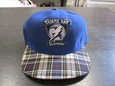 NEW VINTAGE Nutmeg Tampa Bay Lightning Snap Back Hat Cap Plaid NHL Hockey 90s