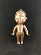 Antique Vintage Petitcollin Celluloid Black Boy Doll France w/Mohawk