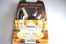 Hama Home Verbindungskabel Scart zu 3 Cinch Kabel Adapter - 1,5 Meter - gold