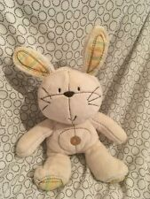 Next Retail Beige Bunny rabbit comforter soft cuddly toy 08/12