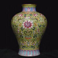 """8.4 """"Qianlong Vieux Chine Famille Rose Porcelaine Dynastie Fleur Bouteille Vase"""