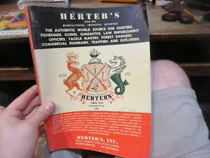 1966 Waseca Minnesota Herter's Catalog 76 Fishing Hunting Trappers Guns Supplies