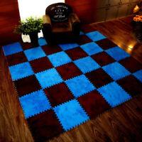 6Stk 30cm Puzzlematte Bodenmatte Spielmatte Turnmatte Schutzmatte Velveteen