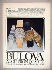 Bulova Watch PRINT AD - 1979 ~ Accutron Quartz ~ watches, wristwatch