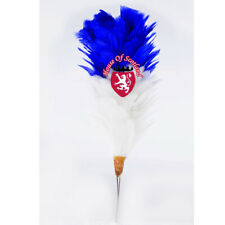 "Feather COFANO PLUME sistemate Rosso 12/"" Balmoral Cappelli Highland Wear COLORE ROSSO 30cm"