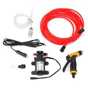 12V High Pressure Car Washer Portable Water Pump Kit Sprayer Hose Van Cleaner