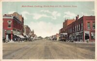 Postcard Main Street, Looking North from 4th Street in Spencer, Iowa~124812