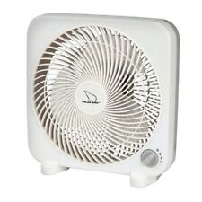 """POLAR AIRE 9"""" Personal Box Fan 3 Speed Switch White Portable Cooling S-9PB NEW!!"""