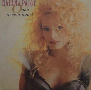 "RAIANA PAIGE  Open Up Your Heart c/w Dub Mix   7"" single"