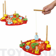 TRADITIONAL WOODEN MAGNETIC FISHING GAME BOYS GIRLS GIFT BIRTHDAY PRESENT TOY