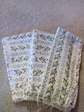 "Flannel Fabric White Green Gold Unicorn Horses 3 pcs 45"" wide 48""L Biggest Piece"