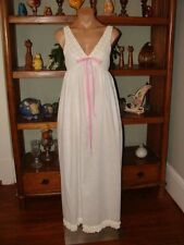 """Ladies/Womens Vintage Long Cotton Blend Nightgown - Bust to 32"""" - White"""