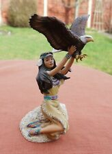 "The Hamilton Collection  ""Maiden of the Eagle""  Native Indian Figurine"