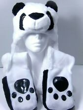 ANIMAL STYLE PANDA HAT SCARF WITH MITTENS NEW WITH TAG YOUTHS SIZE