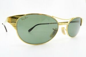 Vintage B&L Ray Ban Signet Oval sunglasses etched lens Mod W1394 made in the USA