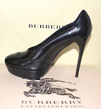 NIB BURBERRY PRORSUM $710 LEATHER PUMPS SHOES EU 38 US 8 MADE IN ITALY
