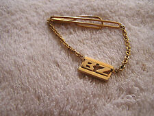 "Vintage Swank Tie Tack Clip Clasp with Initials ""BZ"""