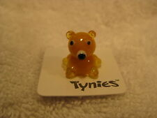 TED Teddy Bear Yellow TYNIES Glass Figure Figurines Collectibles NEW 039