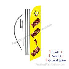Bueno Bonito Y Barato 15ft Feather Banner Swooper Flag Kit with pole+spike