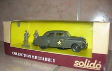 So 1) Chevrolet Sedan US Army N° 6033 Solido 1/43ème en Bo