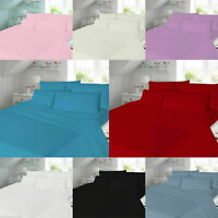 New Luxury Soft Polycotton Fitted Sheet Cot 4 FT Single Double King Super King