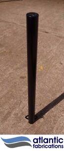 Steel  bollard, concrete in 76mm black, parking post security