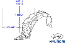 Genuine Hyundai i40 TOURER Anteriore Passaruota Fodera RH driver laterali - 868123z300