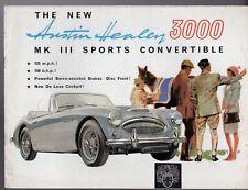 Austin Healey 3000 MK III 1964-68 UK Market Sales Brochure