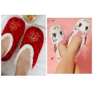 Primark Ladies MY LITTLE PONY BEAUTY AND THE BEAST ROSE Slipper Socks Footlets